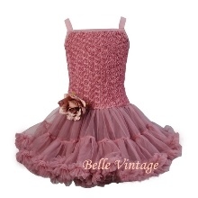 Dusky Ornate Pink Belle Tutu Dress
